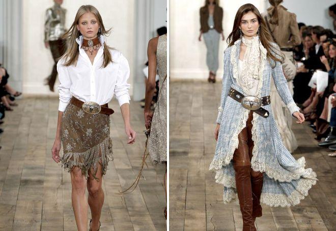 стиль кантри в одежде для женщин