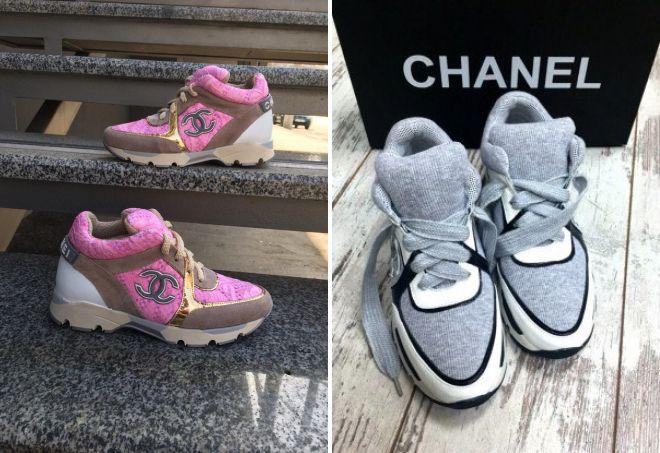 женские кроссовки Chanel