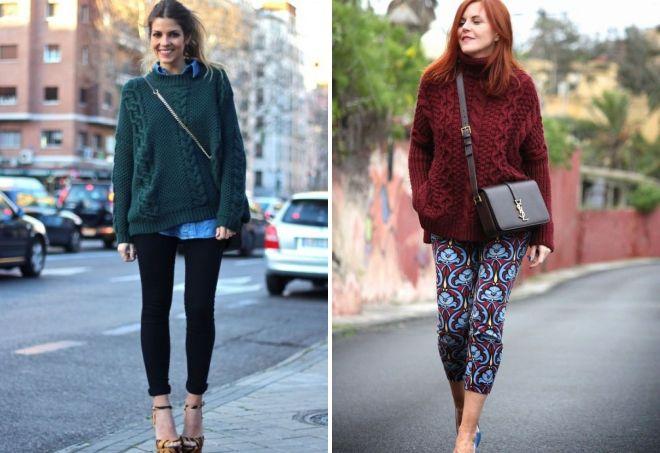 объемные женские свитера