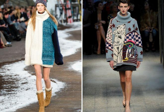 свитер с объемным воротником