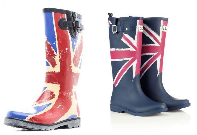 резиновые сапоги с британским флагом