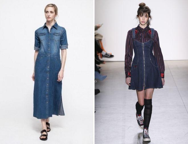 женский джинсовый комбинезон платье