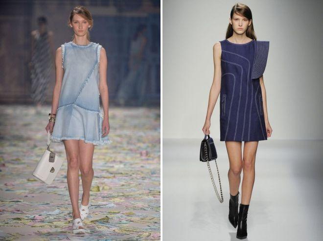 летние джинсовые платья