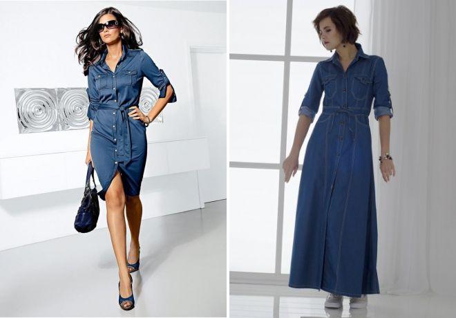 джинсовые платья на лето