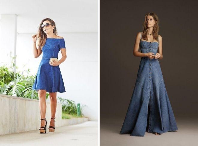 красивые джинсовые платья