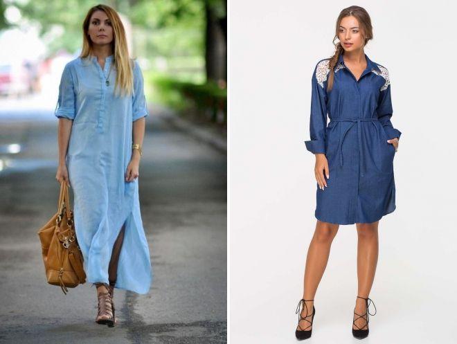 джинсовые платья миди