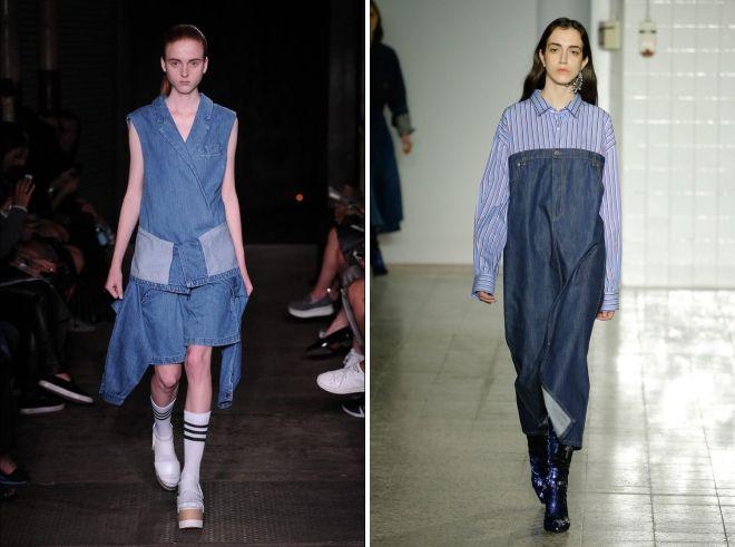 джинсовые платья бохо
