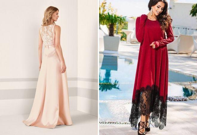 платья с гипюровыми вставками