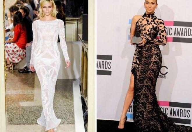 вечерние гипюровые платья
