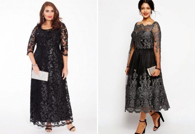 гипюровые платья для полных