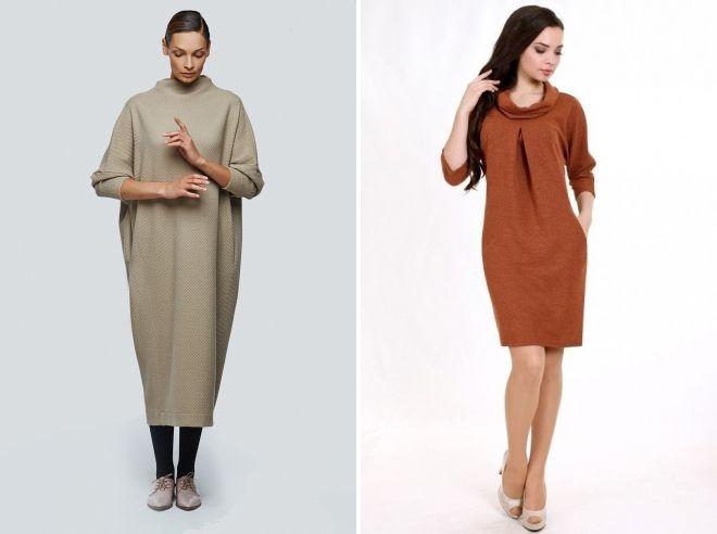 модное женское платье свитшот