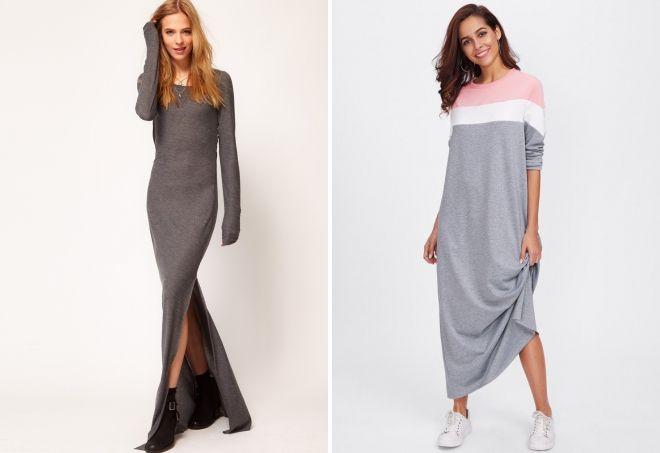 платье свитшот мода