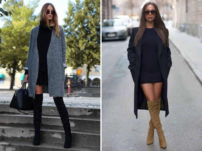 платье свитшот с пальто