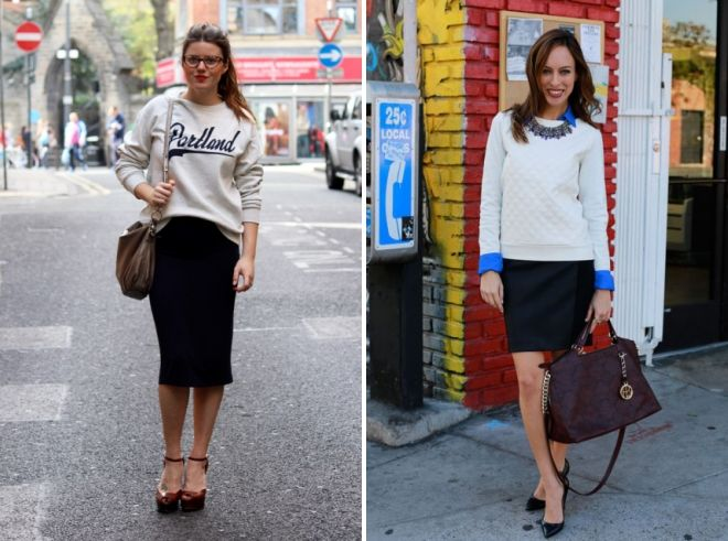 quoi porter avec un sweat-shirt femme au travail