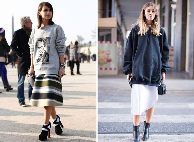 quoi porter sweatshirt surdimensionné