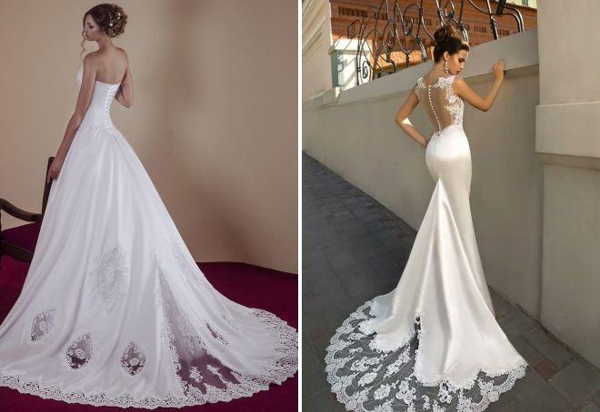аксессуары к свадебному платью со шлейфом