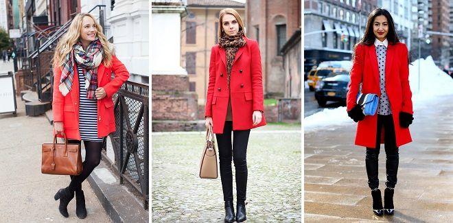 аксессуары к красному пальто