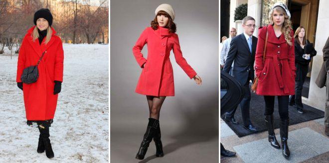 какая шапка подойдет к красному пальто
