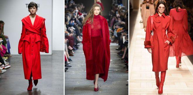 красное пальто 2018