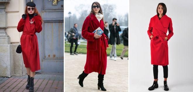 красное пальто халат