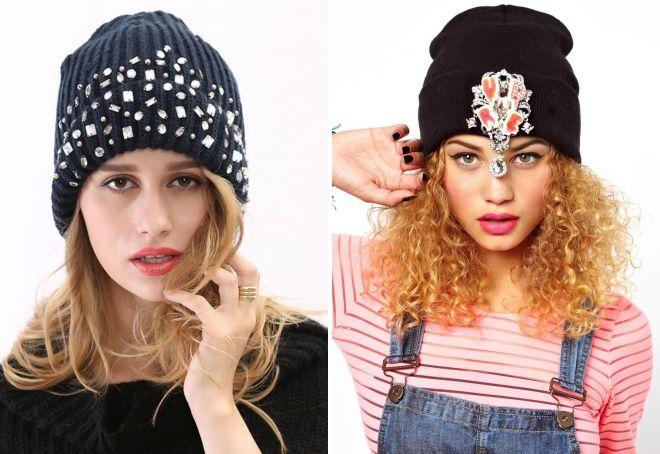 chapeaux de beanie des femmes avec des strass