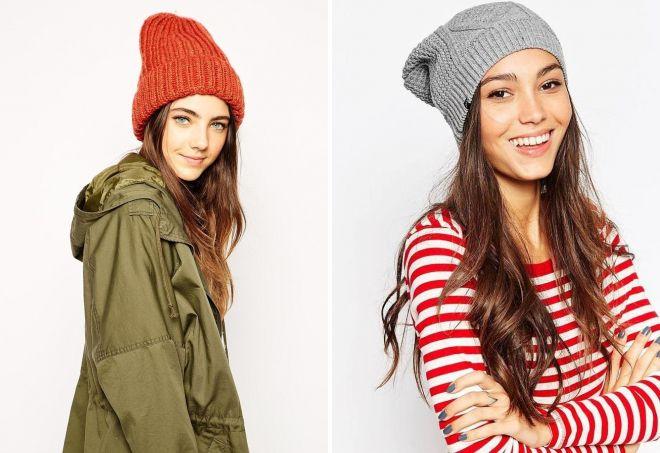 chapeaux de bonnet femmes tricotées