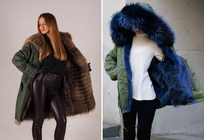 65da607ca642 Стильные женские куртки с мехом на зиму – короткие, длинные ...