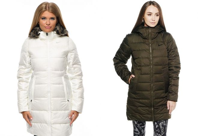 зимние длинные куртки найк