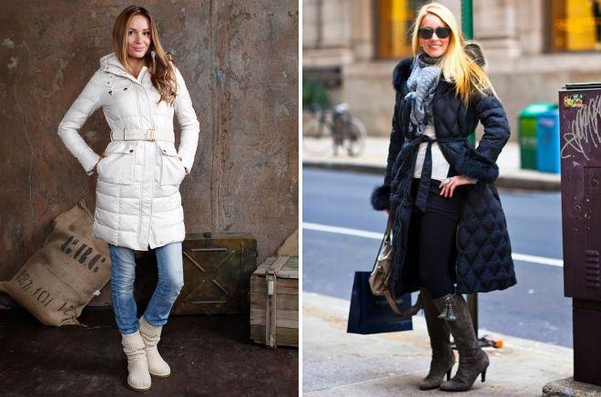 стильная женская длинная зимняя куртка