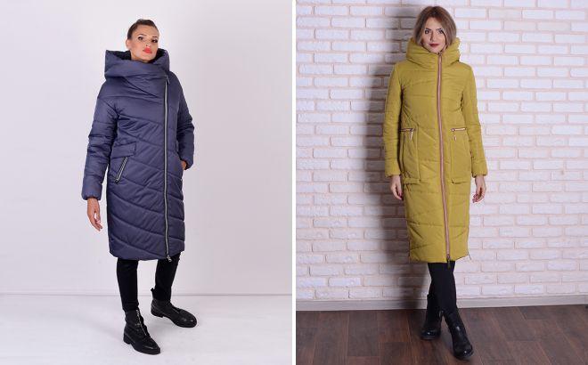 модные женские зимние длинные куртки