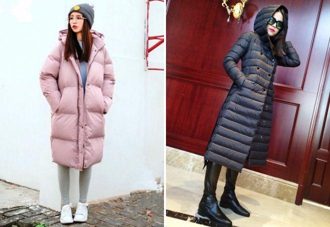 f07035bf8280 Стильные женские зимние длинные куртки – ниже колена, с капюшоном ...