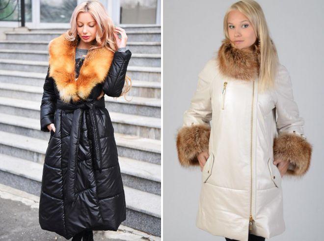 женские зимние длинные куртки с мехом
