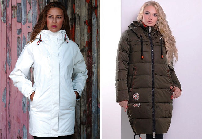 женские зимние длинные спортивные куртки