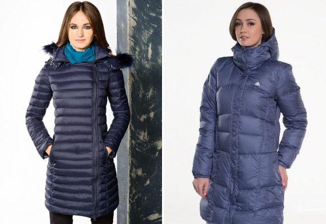 длинная зимняя куртка адидас