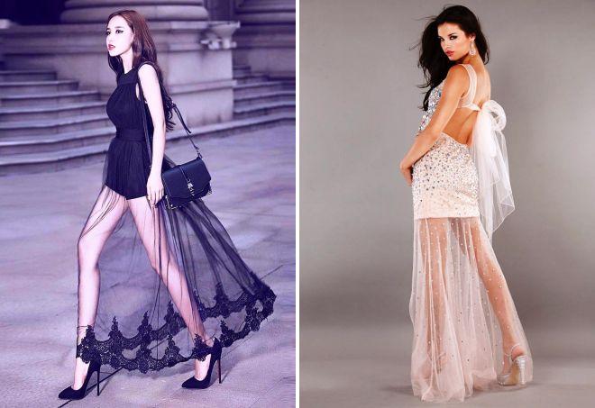 прозрачное платье из фатина