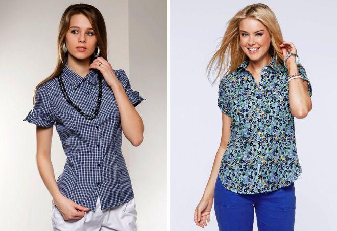 фасоны летних рубашек для женщин