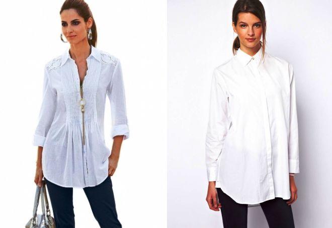 летние белые рубашки