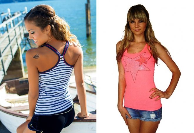 Красивые модные майки для девушек – длинные, короткие ... - photo#12