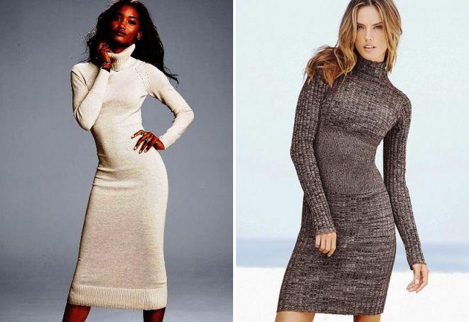 a384a3891ee Модные трикотажные платья – длинные в пол