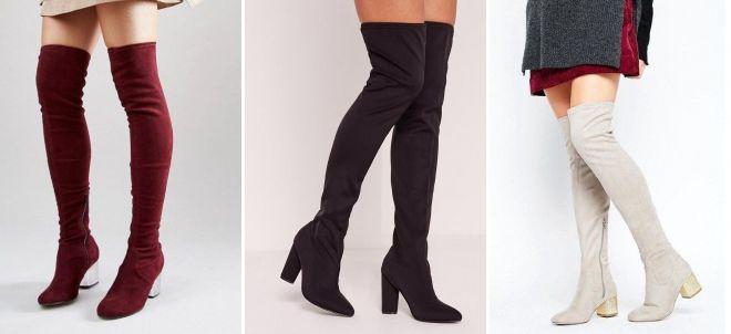 d1867fdaf2403 Модные женские сапоги-чулки – ботфорты, стрейч, замшевые, бархатные ...