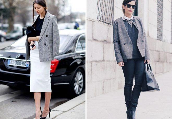 с чем носить серый пиджак