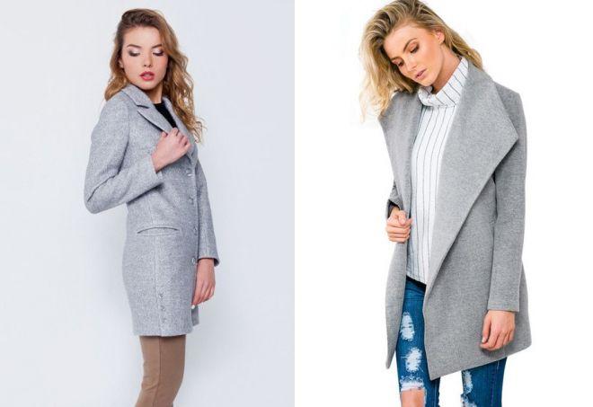 серое пальто пиджак