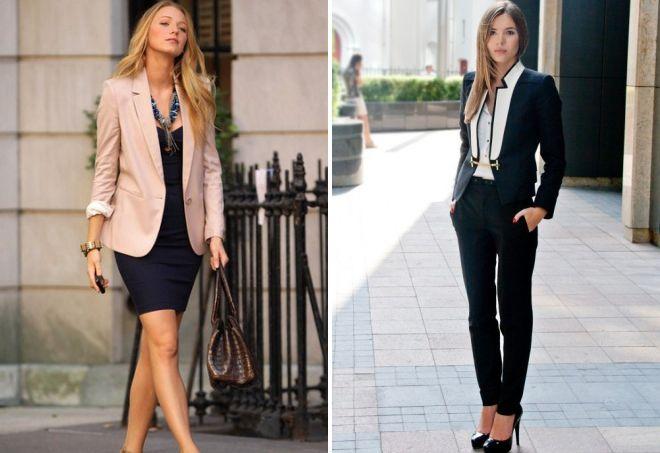 женские образы с пиджаком