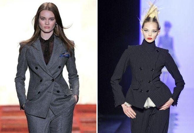 женский двубортный пиджак
