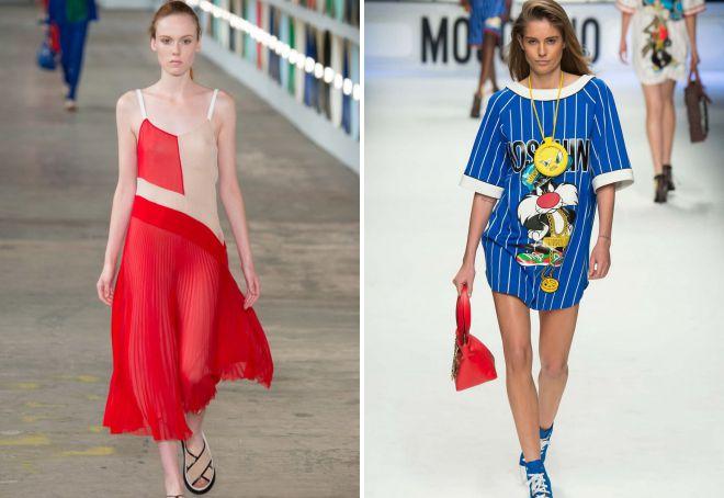повседневная одежда мода лето 2018