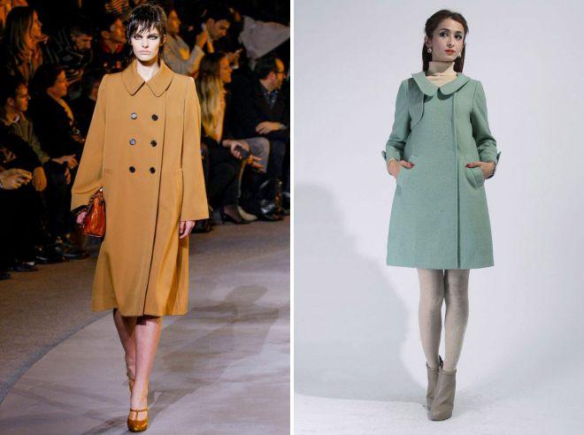 женское пальто в стиле ретро
