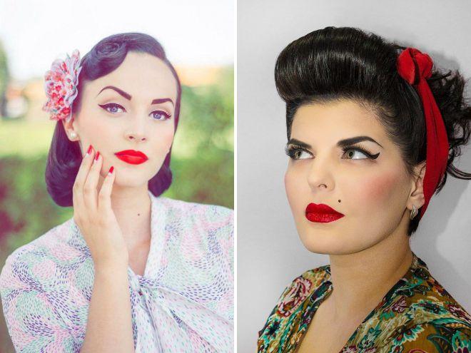 макияж в стиле ретро