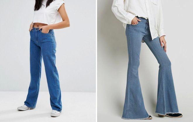 джинсы в ретро стиле