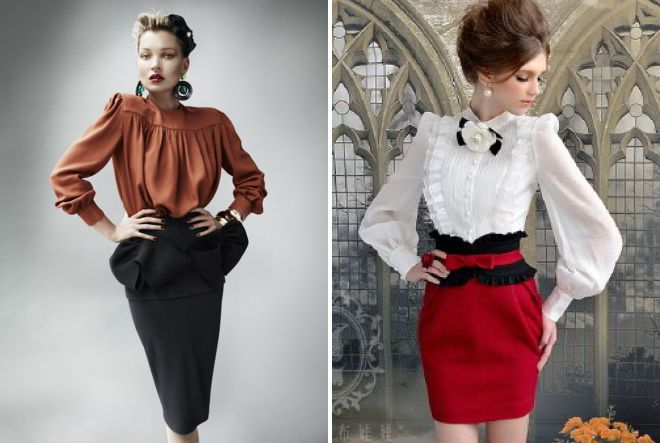 блузки в стиле ретро