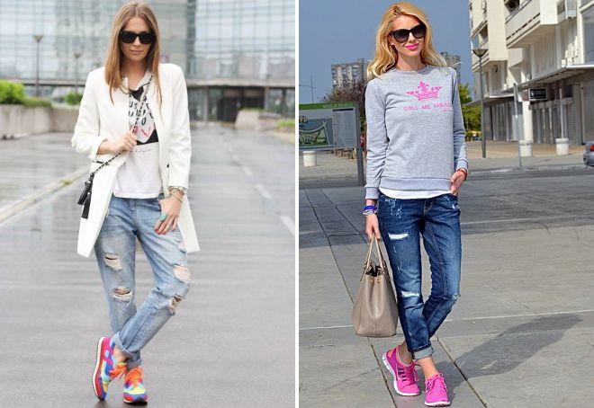 кроссовки под джинсы